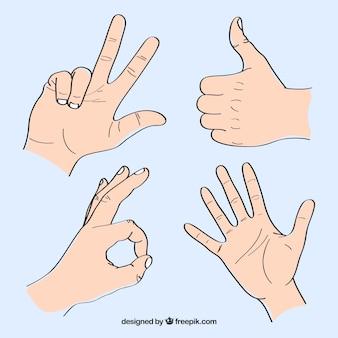 Set of sign language