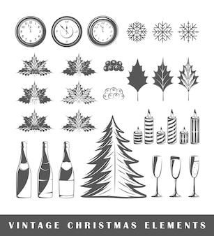 Set of silhouettes a christmas