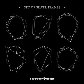 Set of silver frames