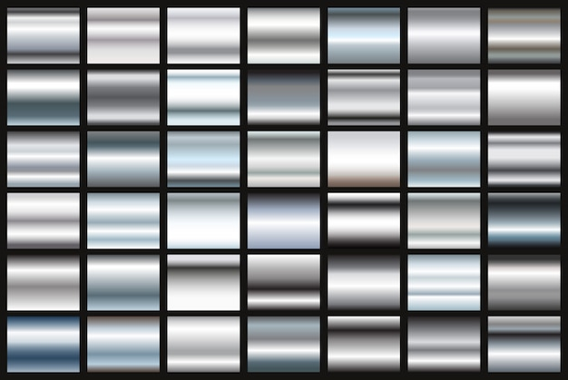 Set of silver gradients