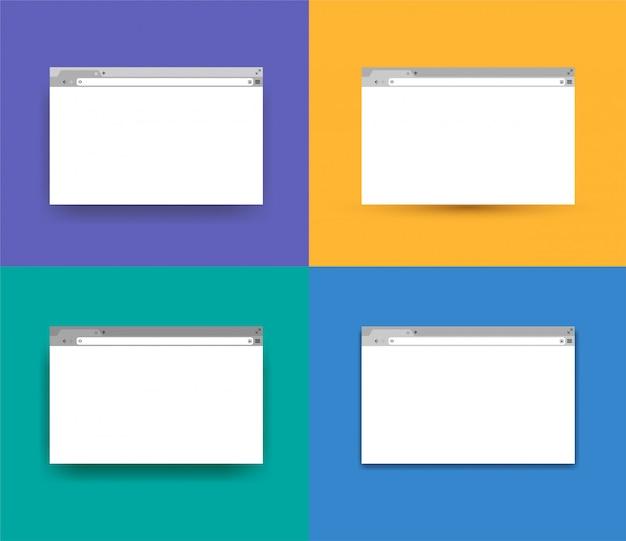 Set of simple browser window.