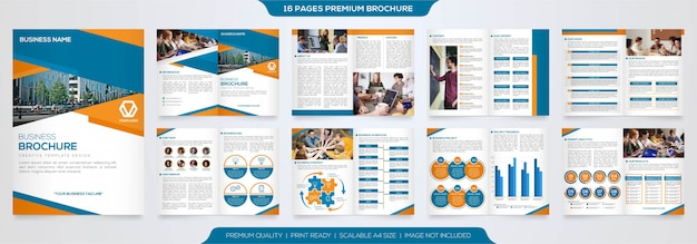 Set of simple business brochure template