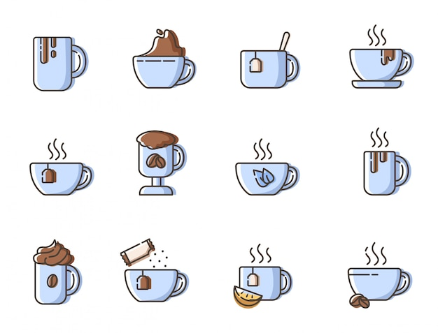 Set of simple outline icons
