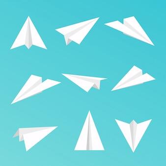 Set a simple paper planes icon. illustration.