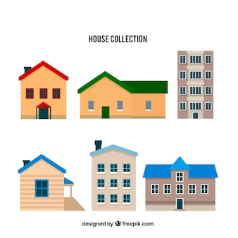 Set of six houses