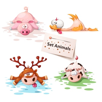 Set sleep animals