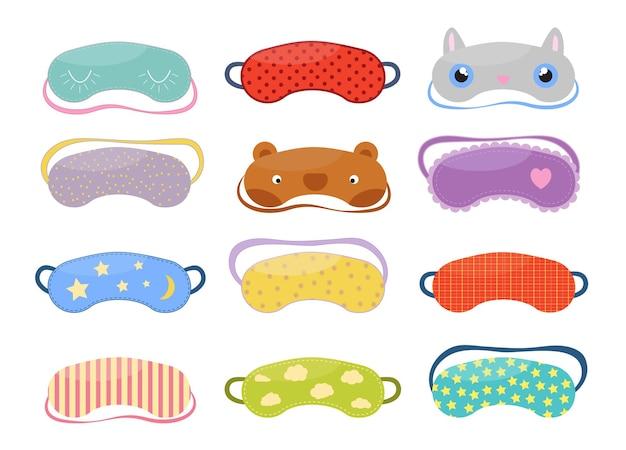 Set of sleep masks for eyes