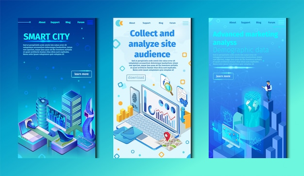 Set smart city, collect and analyze site audience.