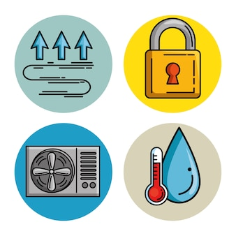 Set of smart home tecnology system icons