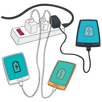 Set of smartphone charging