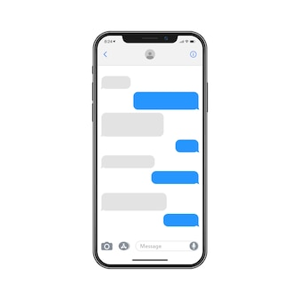 Set of smartphone conversation dialog