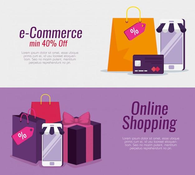 クレジットカードとバッグでスマートフォンテクノロジーを設定する