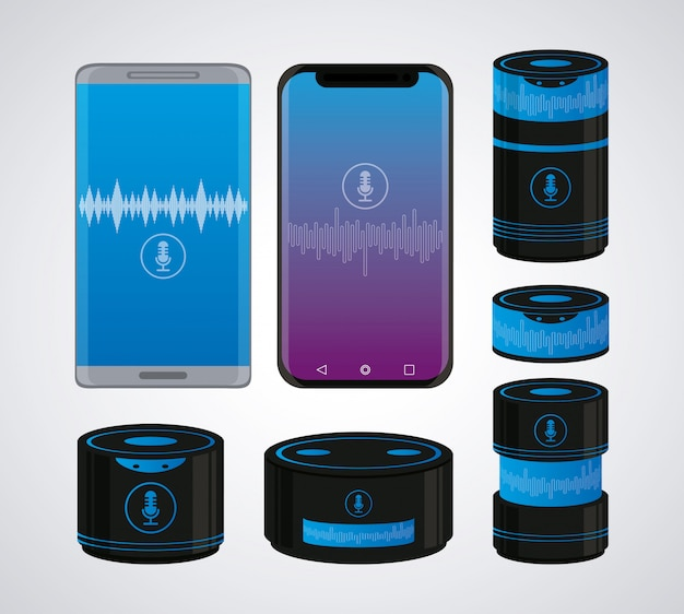 Set smartphone and wireless speaker