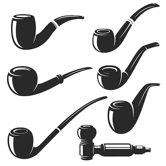 Set of the smoking pipes