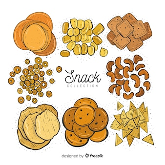 Set of snacks