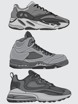 Set of sneakers