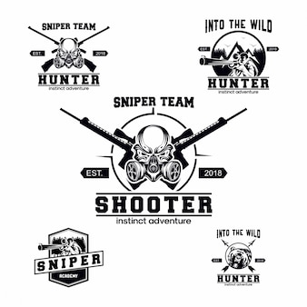 Set of sniper logo