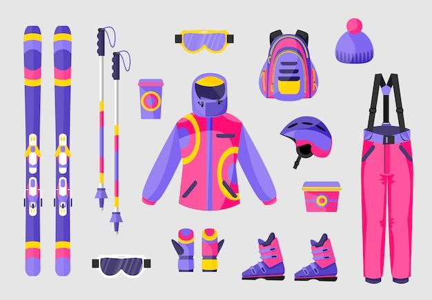 Set of snowboarding equipment