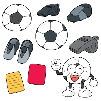 Set of soccer equipment