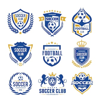 Set of soccer football logo template