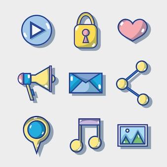 Set social media technology to communication