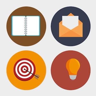 Set social network d icons