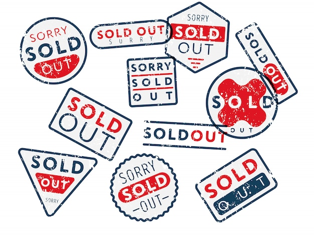 Set of sold out stamps