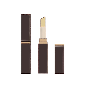 Set of solid type concealers. cute and simple art style. on a white background.