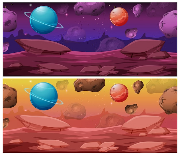 Set of space background