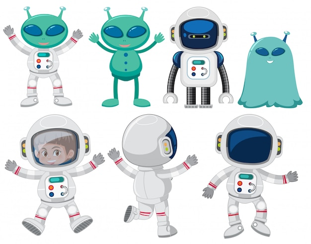 Set of space character