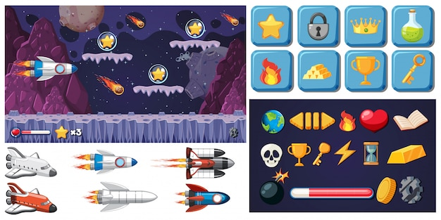 Set of space game