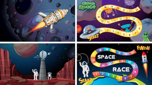 Set of space games