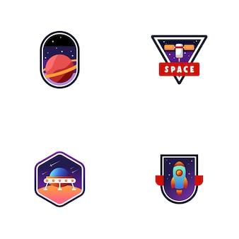 Set of space logos