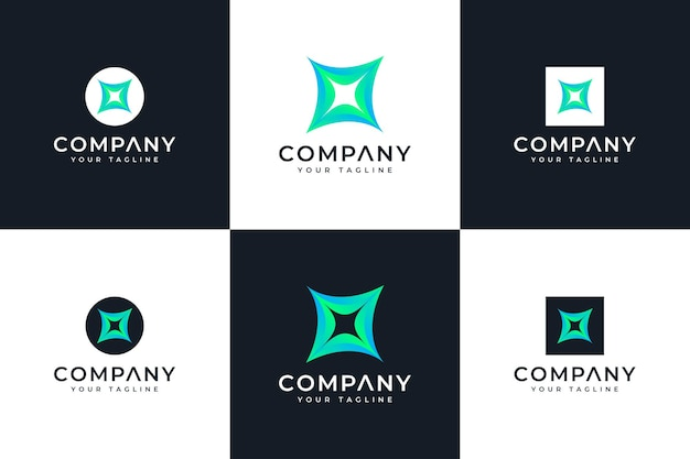 Set of spark logo creative design for all uses