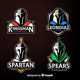Set of spartan badges