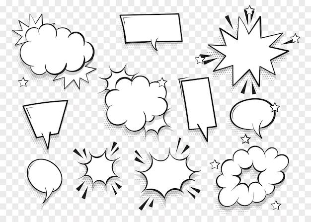 Set speech bubble for comic text