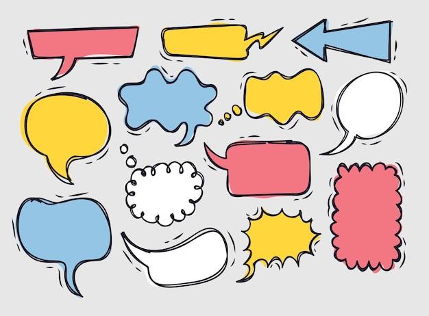 Set of speech bubble doodle
