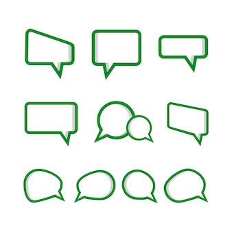 Set speech bubble icon set