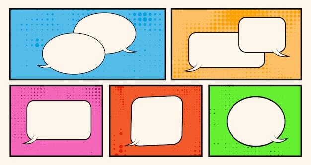 Set of speech bubbles in comic style