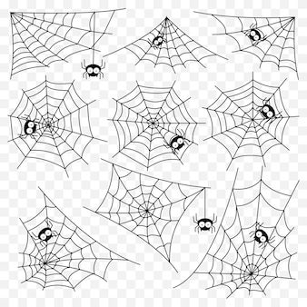 Set of spider web vector template