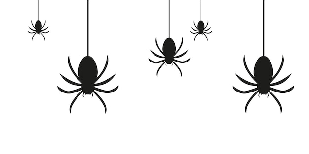 Set of spiders for halloween background vector graphics