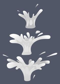 일러스트 애니메이션의 경우 액체 물 튀김의 스플래시 설정