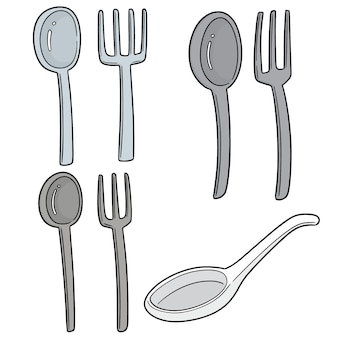 Set of spoons and forks