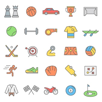 Set of sport games icon with modern concept