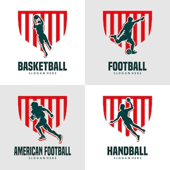 Set of sport logo design template
