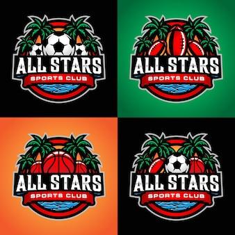 Set of sport logo template