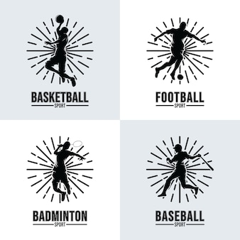 Set of sport logo templates