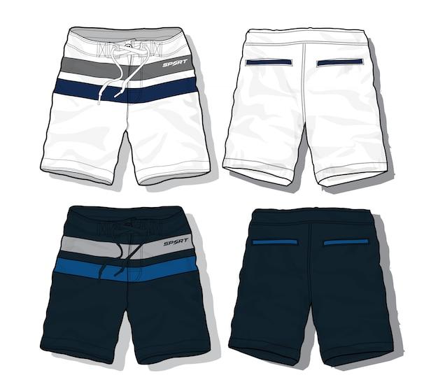 Set of sport shorts template