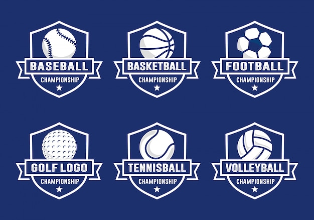 Set of sport team logo template