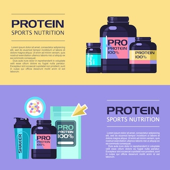 A set of sports nutrition and accessories for sports.